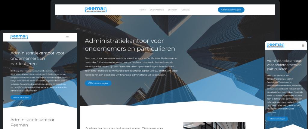 Ways Agency Portfolio Item Administratiekantoor Peeman